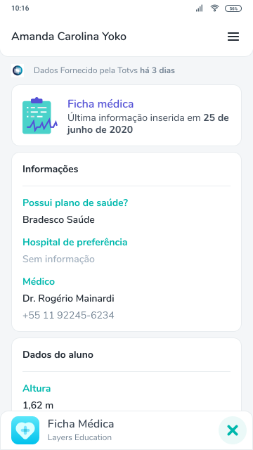 Ficha médica screenshot